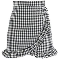 Chicwish Cool Like Ruffle Skorts in Black Gingham
