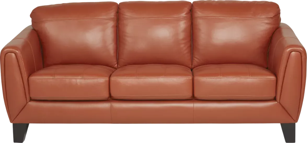 Livorno Papaya Leather Sofa Rooms To Go Leather Sofa Best