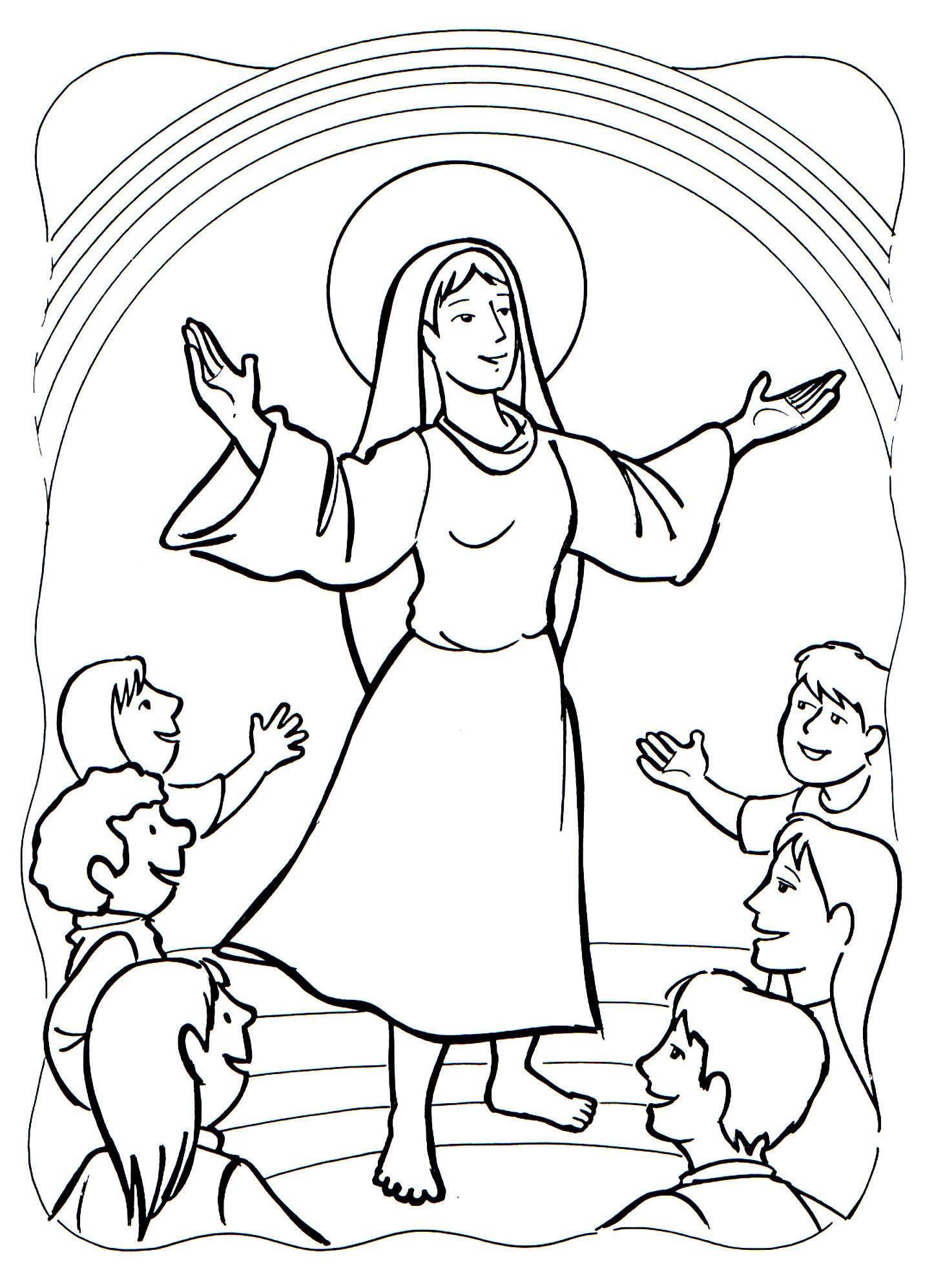 páginas para colorear de los misterios del rosario para niños de 3 a ...