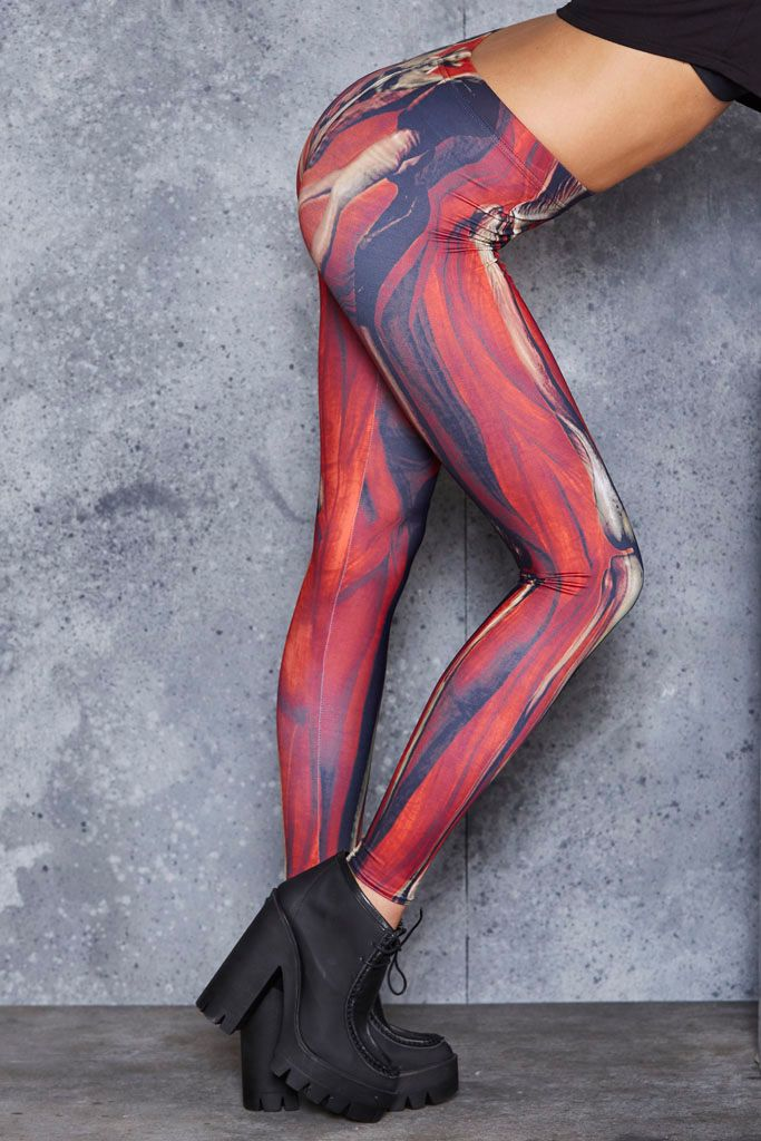 Muscle and Bloody Bone MF Leggings ($75AUD) by BlackMilk Clothing ...