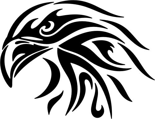 Eagle Tribal Animal 54 Auto Decal Car Sticker Tribal Drawings Eagle Drawing Tribal Animals