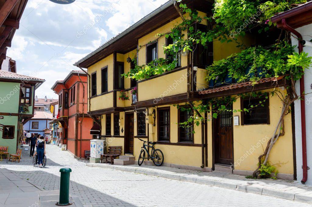 Traditional Turkish Houses in Odunpazar��,Eskisehir
