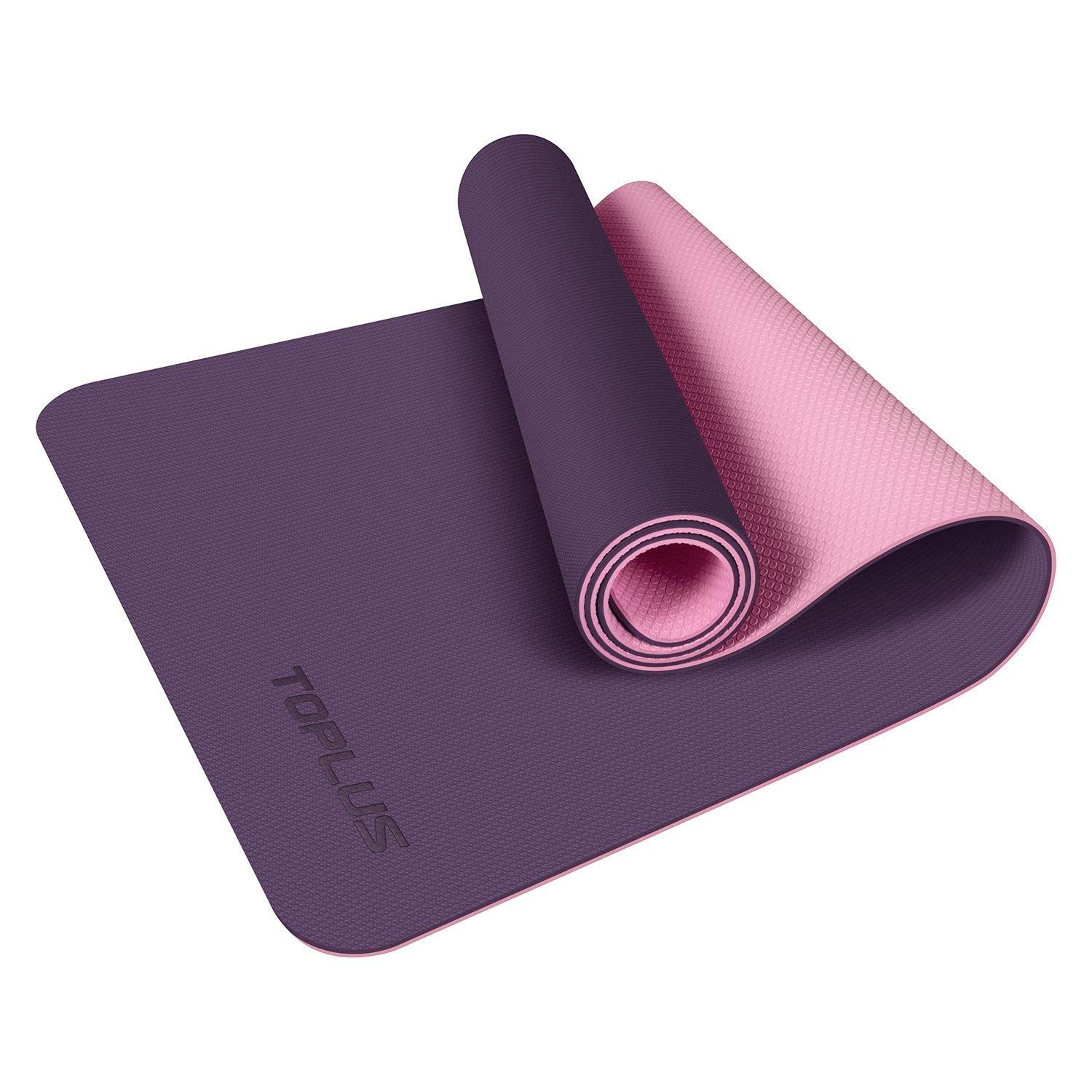 Toplus Yoga Mat Upgraded Yoga Mat Eco Friendly Non Slip Exercise And Fitness Mat With Carrying Strap Click Image For Mat Exercises Yoga Mat Floor Workouts