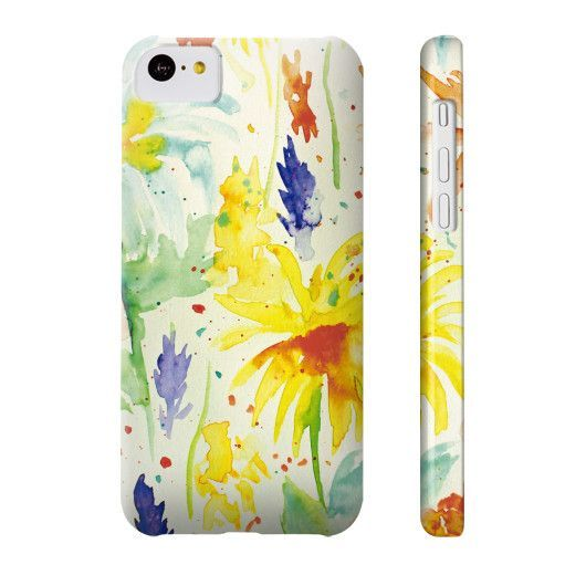 Yellow Pop Spring Flowers Phone Case