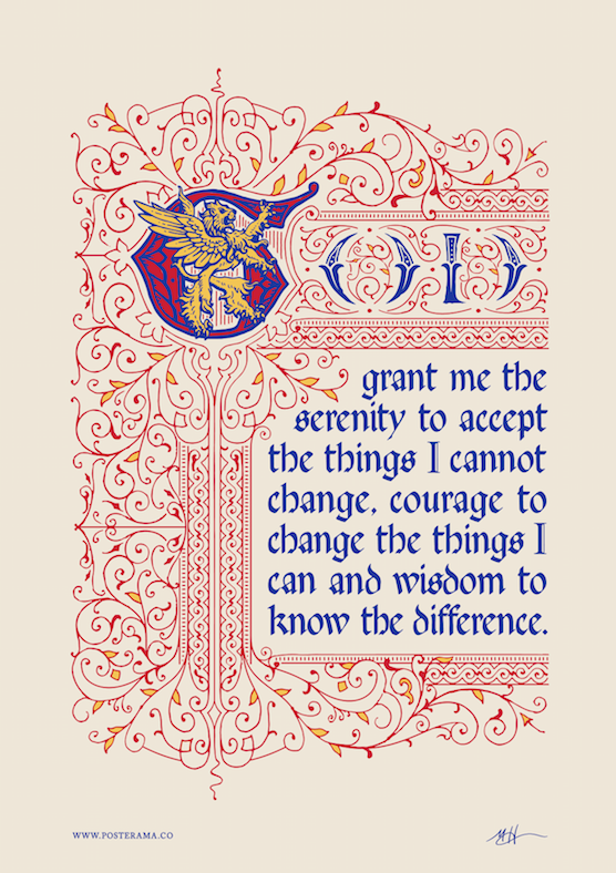 Top 10 serenity prayer typography posters for sale inspirational wall artserenity