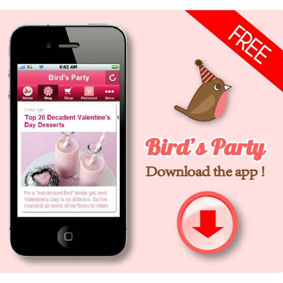 FREE Party App from Bird's Party on Google Play Apps store #app #android #partyApp #birdsparty