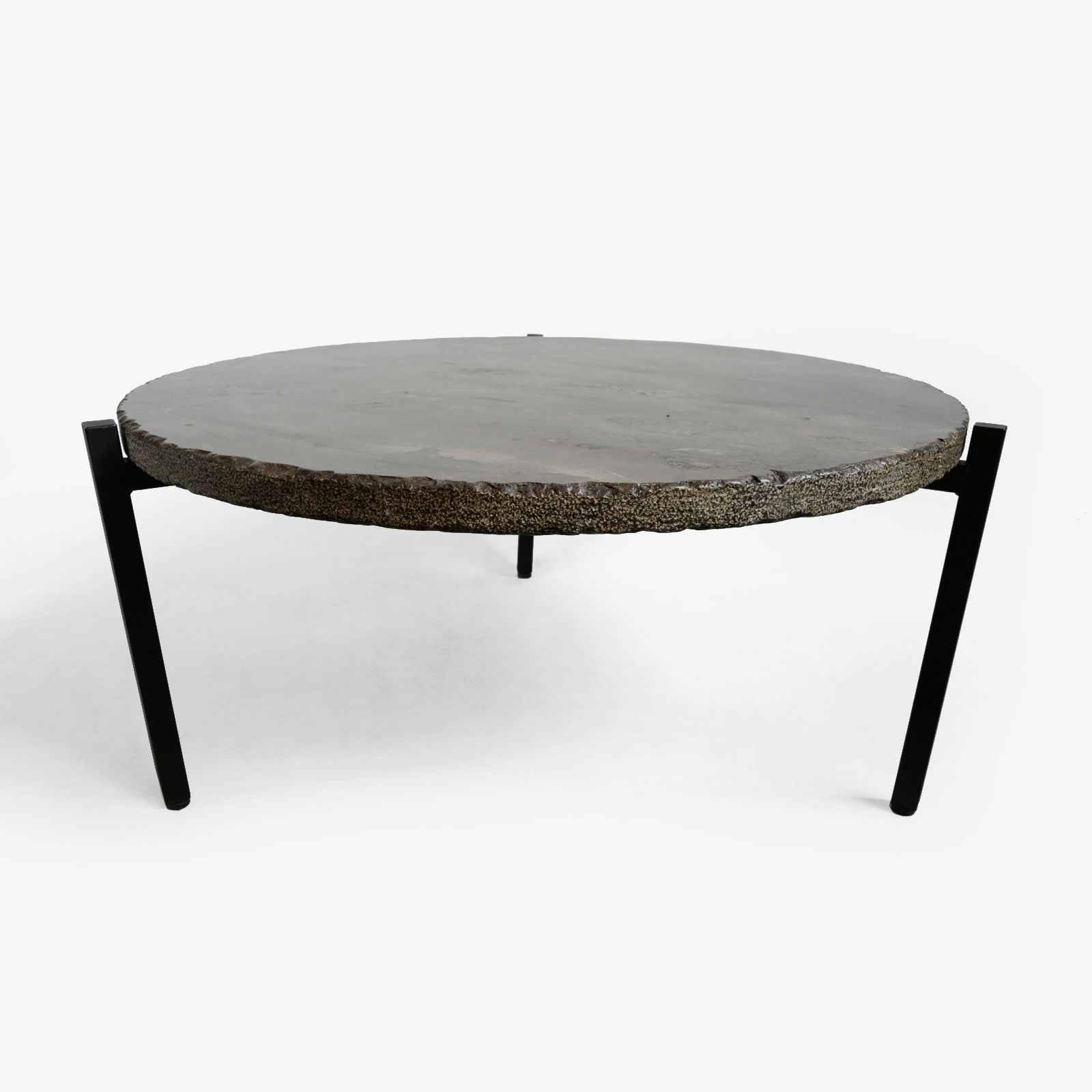 Round Marble Top And Iron Base Coffee Table Beautiful Modern Piece With Greys And Taupe Marble Gr Coffee Table Coffee Table Furniture Design Iron Coffee Table [ 1600 x 1600 Pixel ]