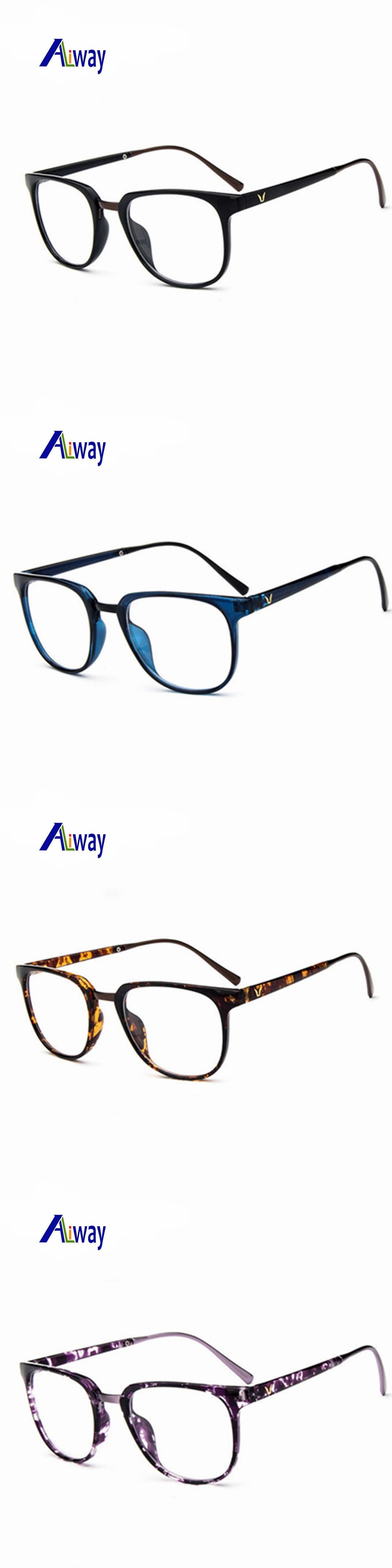 Fashion Designer Open Air Unbreakable no Diopter Plain Glass ...