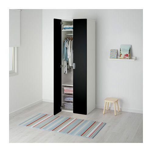 STUVA Armoire-penderie - blanc noir - IKEA St Mama Pinterest - armoire ikea porte coulissante