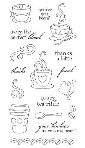 4 x 6 Janes Doodles Donuts Clear Stamps
