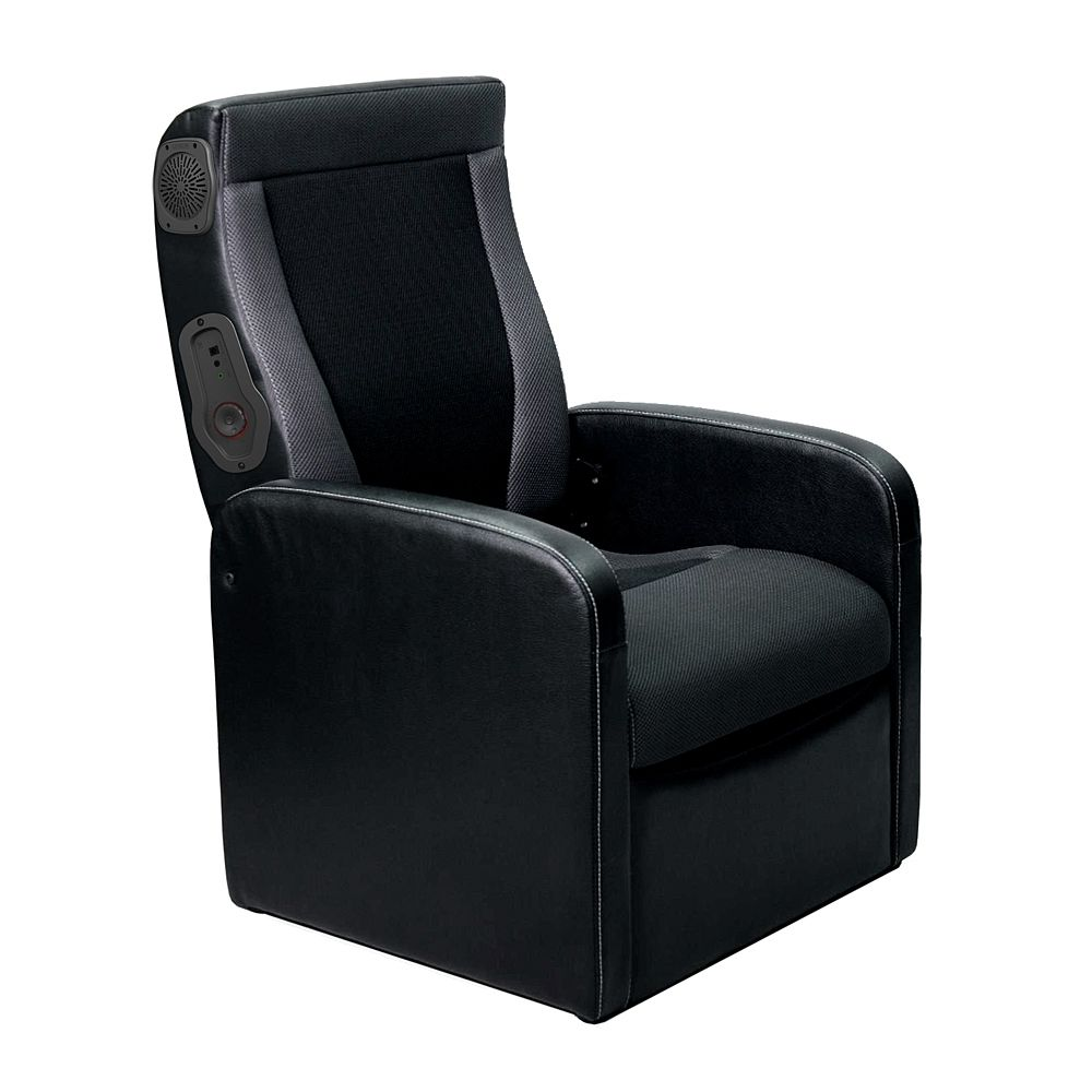 Magnificent Ottoman Gaming Chair Black W Express 2 0 Audio Whalen Lamtechconsult Wood Chair Design Ideas Lamtechconsultcom