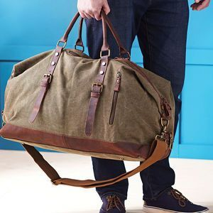 ea6d340b01c Personalised Canvas Classic Travel Holdall Bag. Discover thoughtful