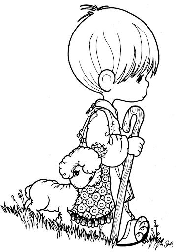 Shepherd precious moments coloring pages … | Coloring Books | Preci…