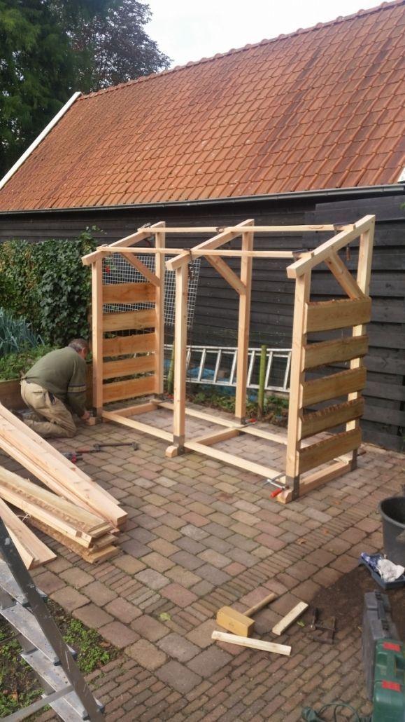 Mobile Wood Storage Planed Douglas Garden And Fireplace Abri Bois De Chauffage Abri Pour Voiture Pergola Stockage De Bois De Chauffage