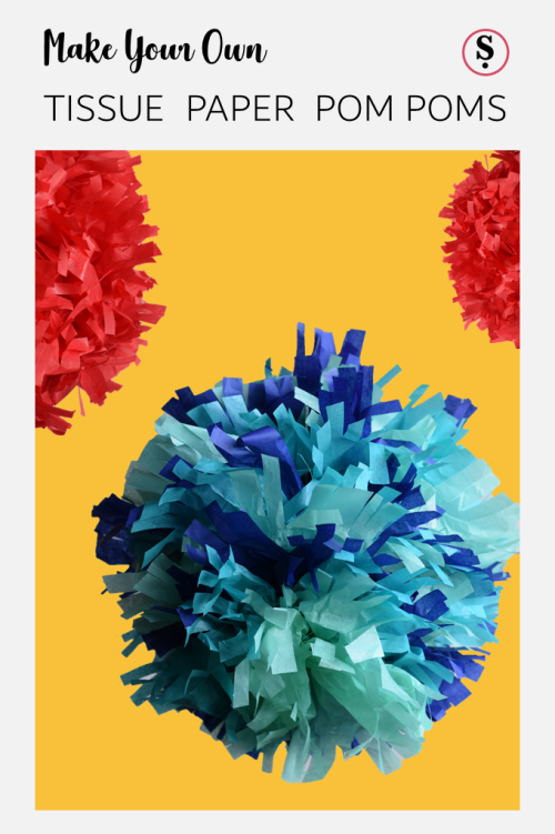 How to Make Tissue Paper Pom Poms images