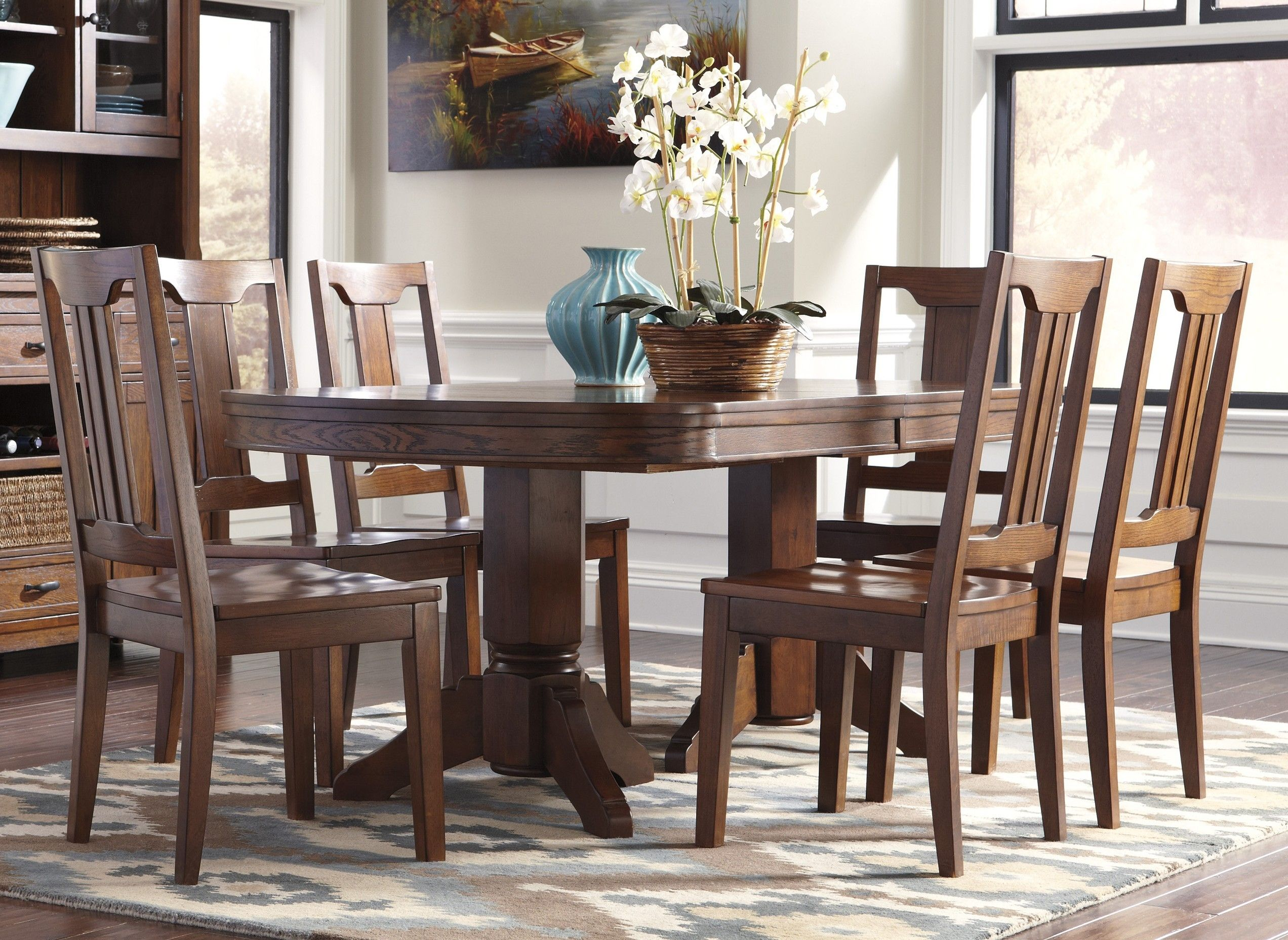 Nice Awesome Dining Table Ashley Furniture 88 For Home Designing Impressive Oval Dining Room Table And Chairs Design Ideas