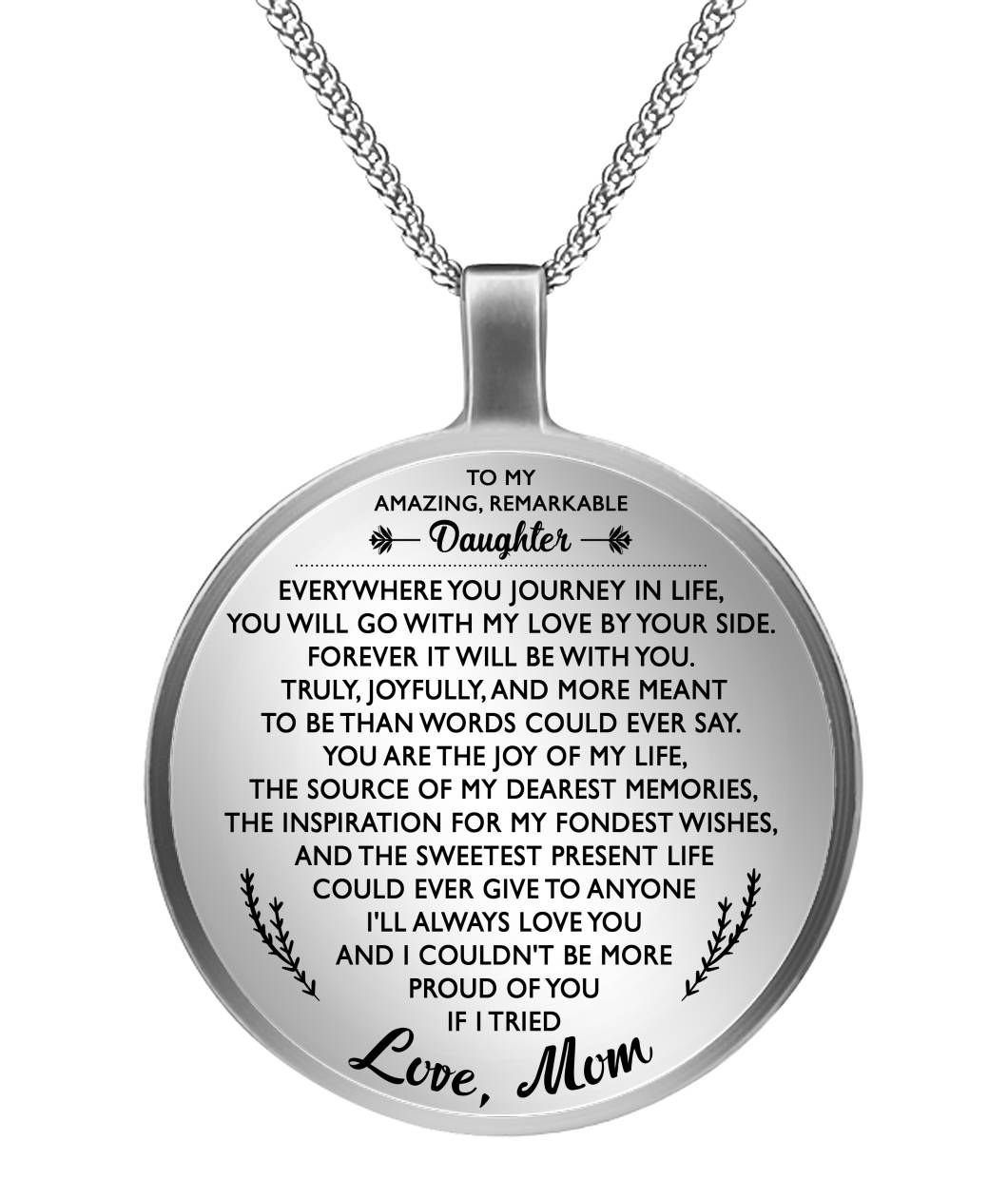 To My Daughter Heart Necklace Winnie The Pooh Love Mom