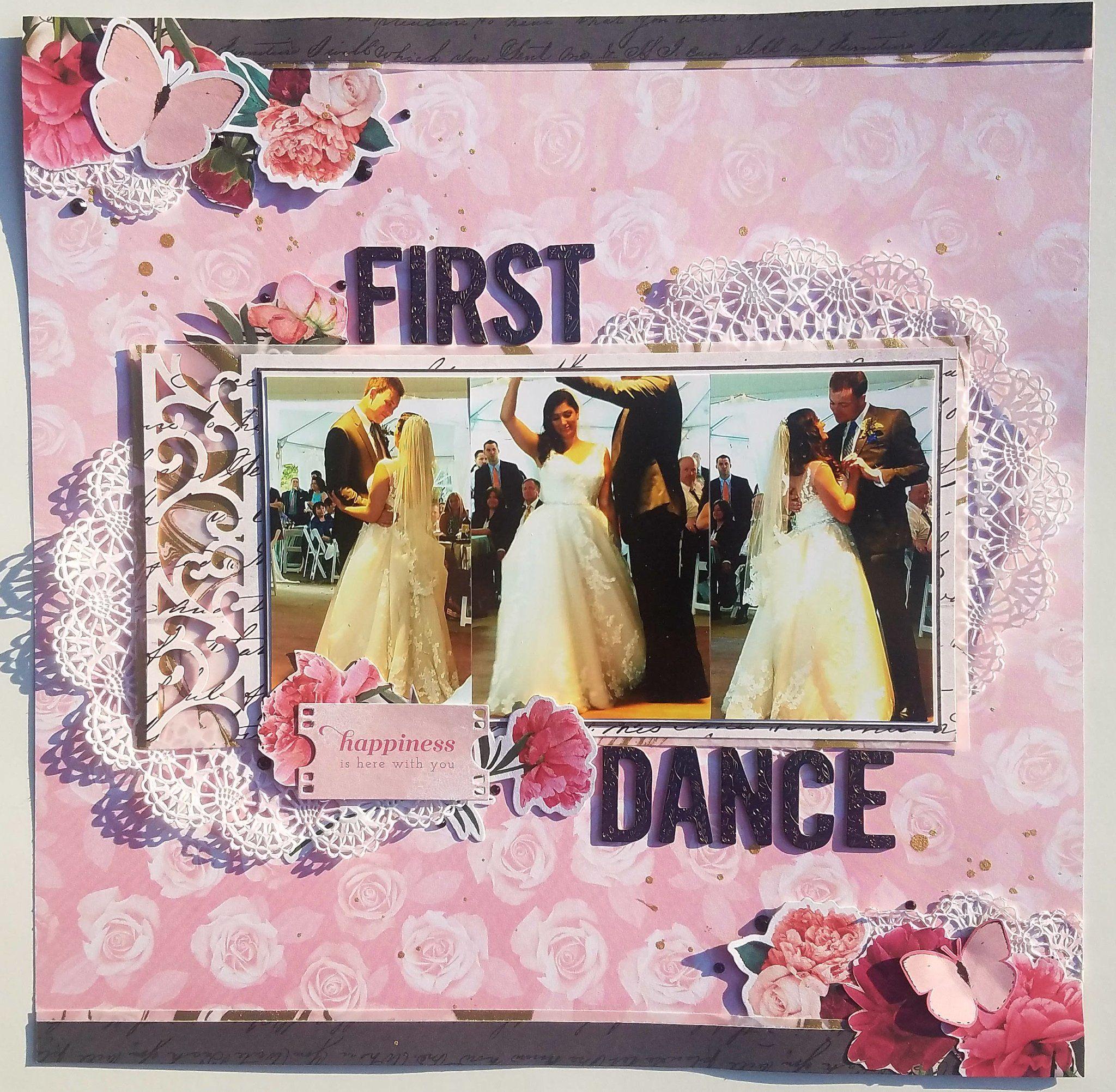 First Dance Wedding scrapbook, Happy