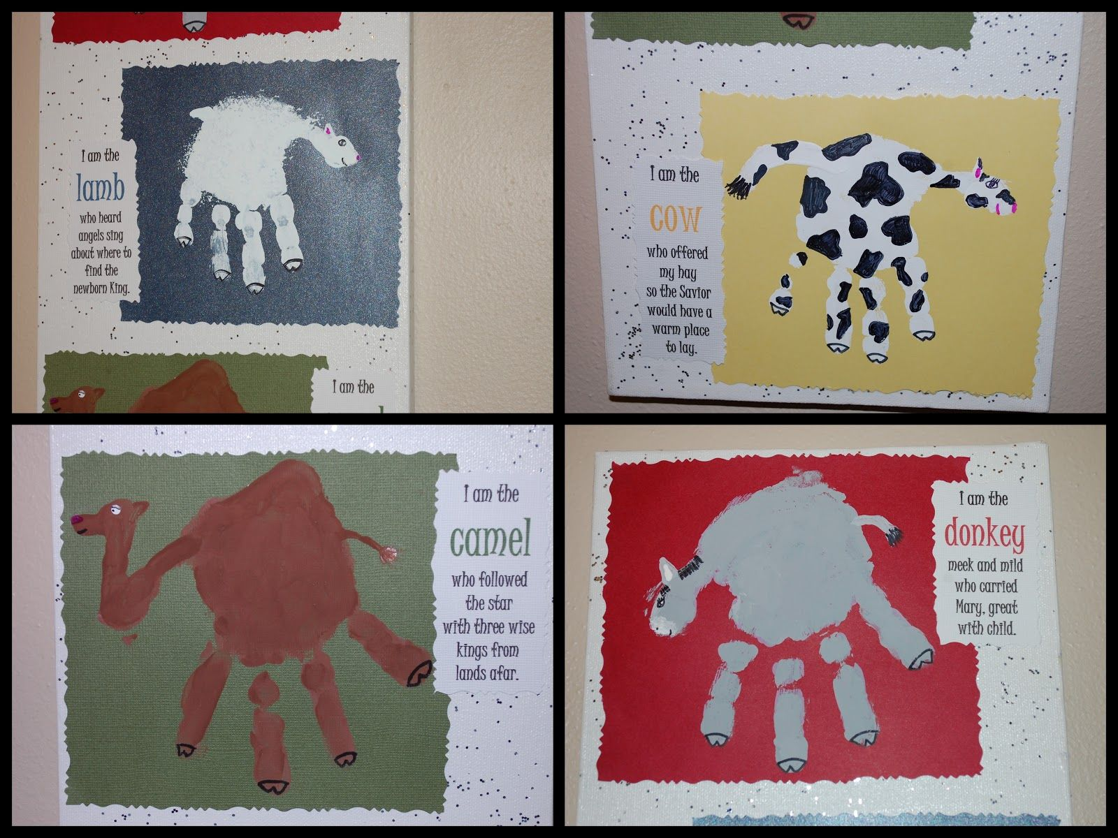 Love These Handprint Animals And Poem Gratefully Growing