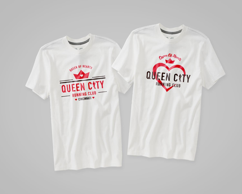 T shirt design on queen city - Mini Heart Marathon Shirts Queen City Running Club Dane Creek Design