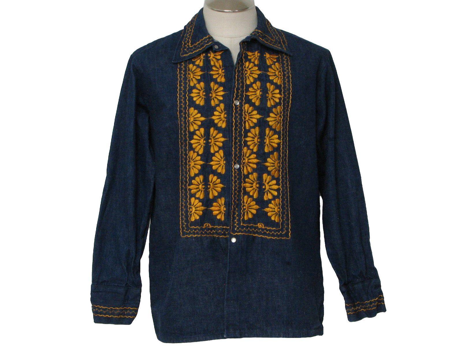 Men's Hippie shirt NykQ55rP8y