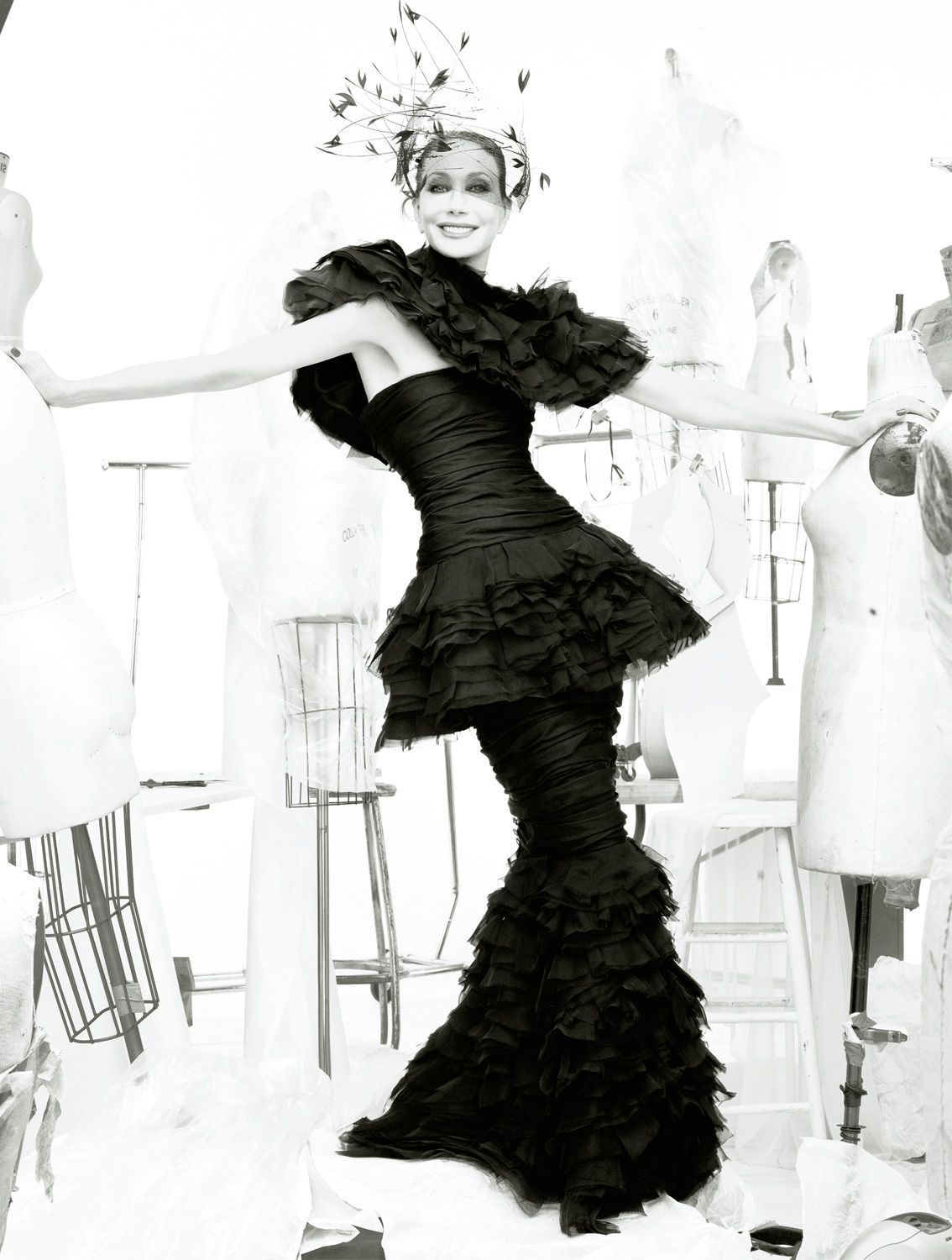 Marisa Berenson  GO TO ARTICLE »  Photography STEVEN MEISEL  Stylist KARL TEMPLER  Dress: Chanel Haute Couture. Hat: Suzanne Couture.