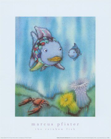 Amazon.com - Rainbow Fish and the Little Blue Fish Art Poster Print by Marcus Pfister, 16x20 -