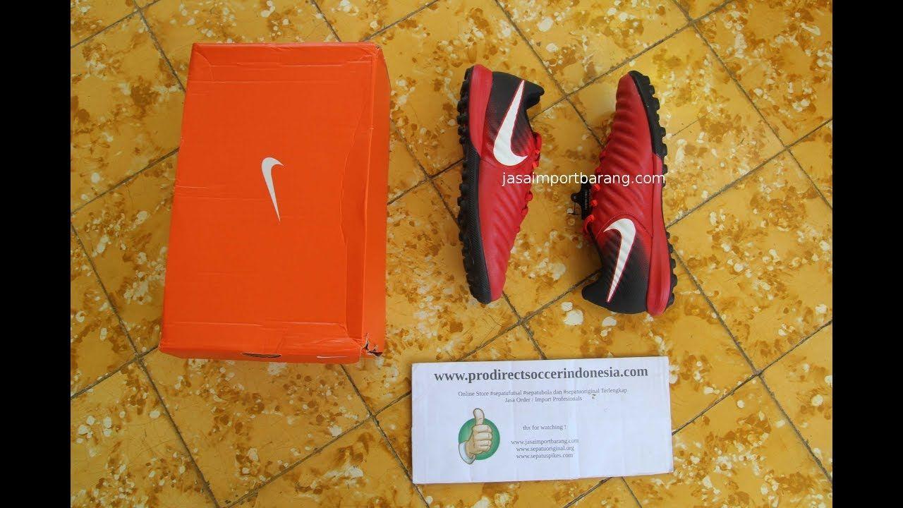 Sepatu Futsal Nike Tiempox Finale Tf University Red 897764 616