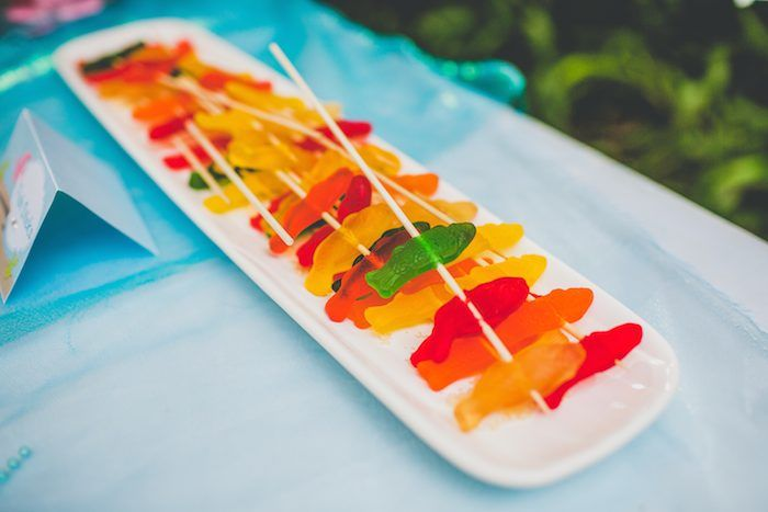 Mermaid theme - Gummy Fish on a Stick