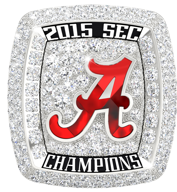 2015 Sec Champions Ring Png Alabama Football Championships Alabama Football University Of Alabama