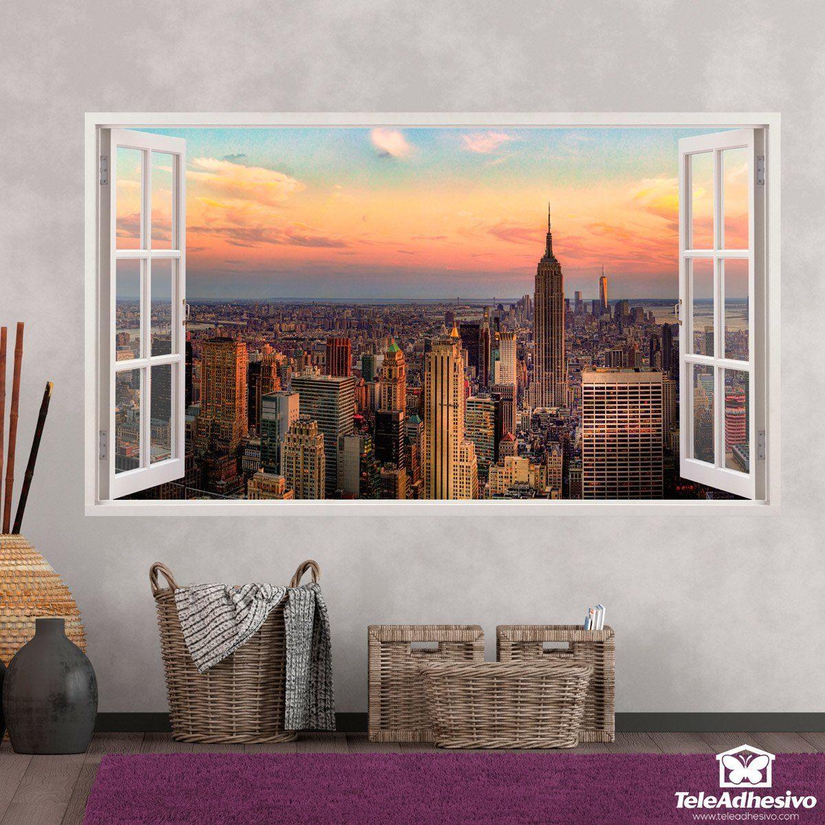 Pegatinas Para Decorar Con Forma De Ventana Teleadhesivo Muebles  # Muebles Panorama
