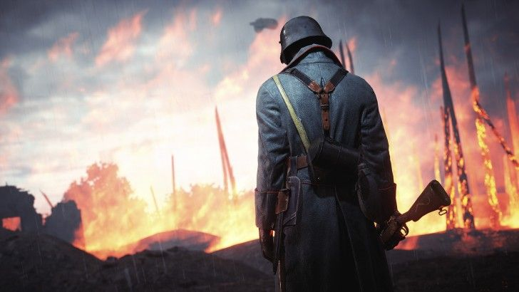 Soldier Battlefield 1 Game Fire Wallpaper Seni