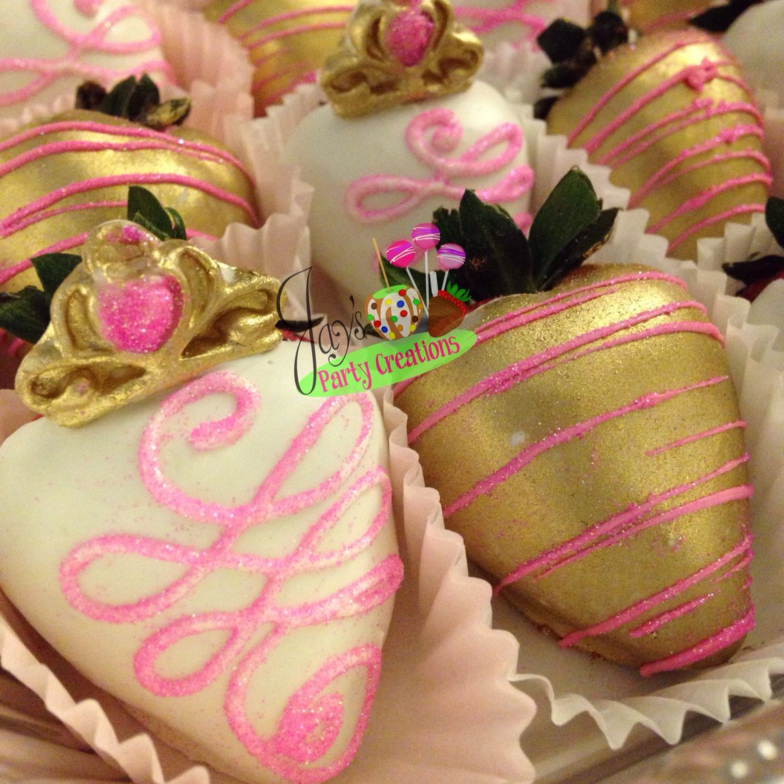 Princess chocolate covered straWberries | Jays Party Creations ...