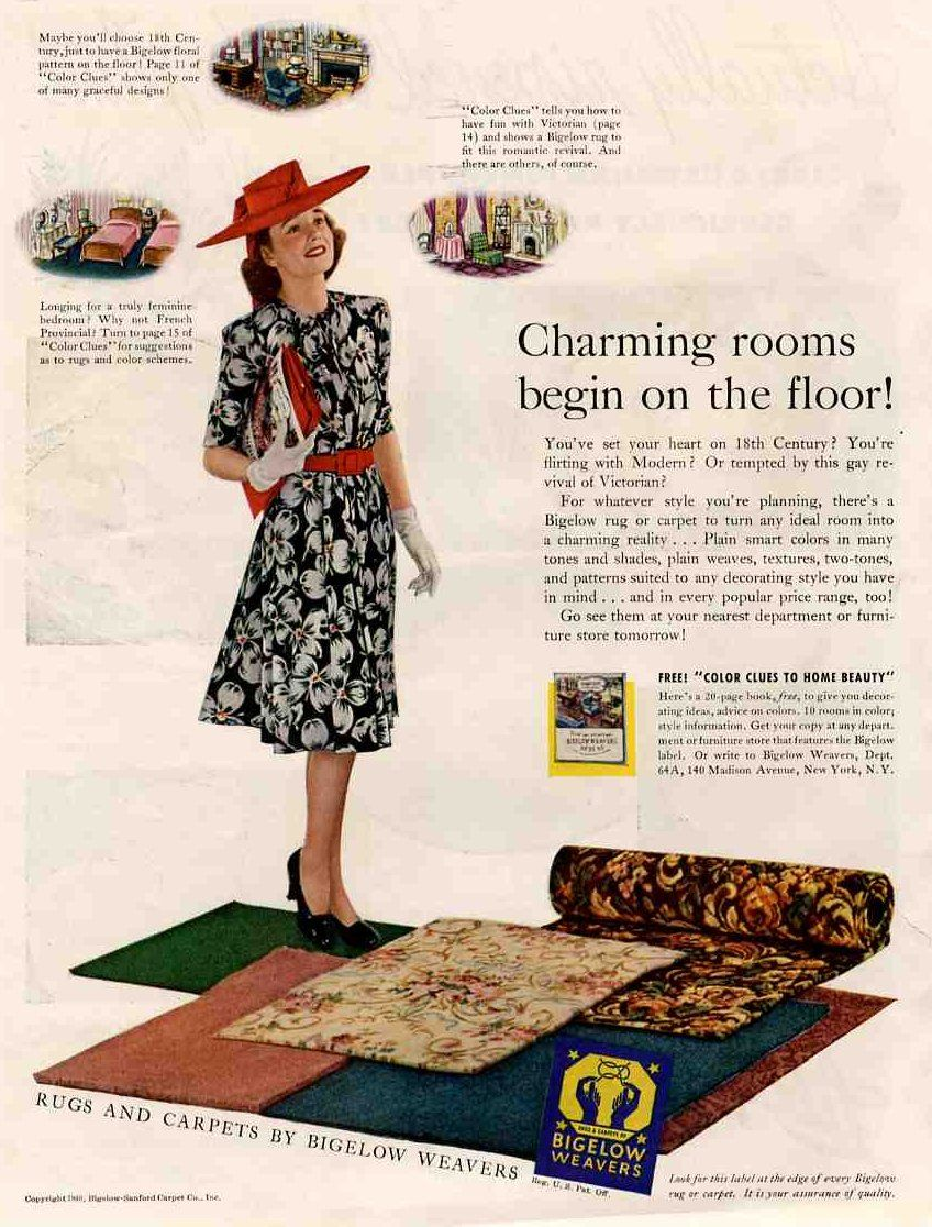 bigelow weavers 1940s ad