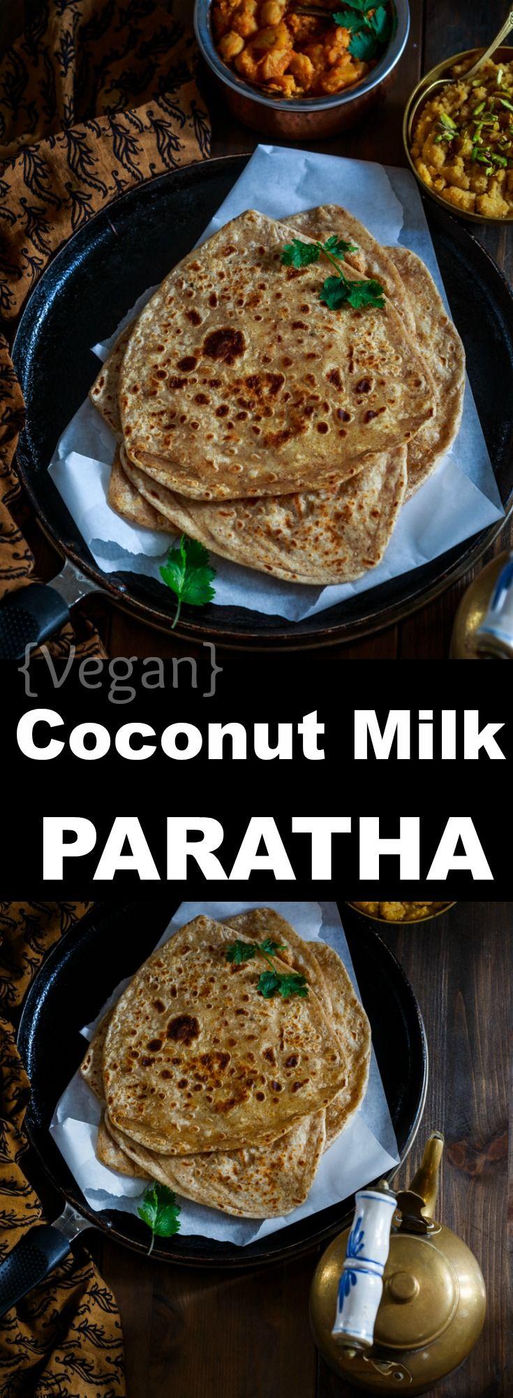 Coconut Milk Doodh Paratha