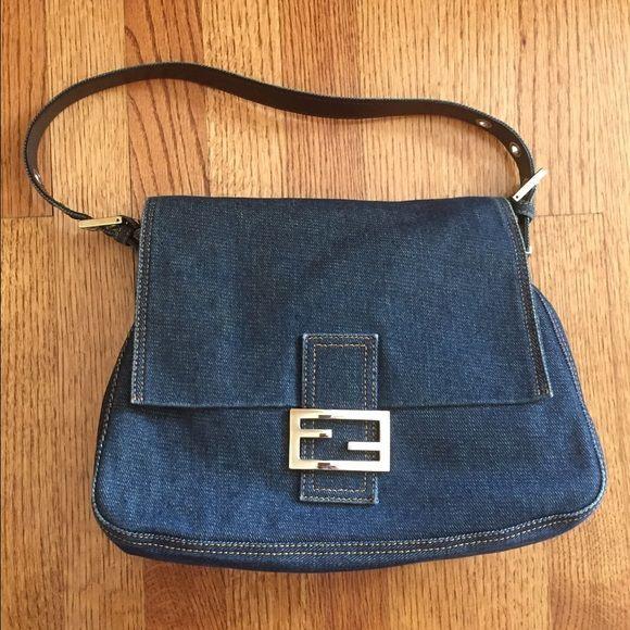 Vintage FENDI Denim Handbag In great condition and beautifully kept. No  damage on this denim e3153ca5b2021