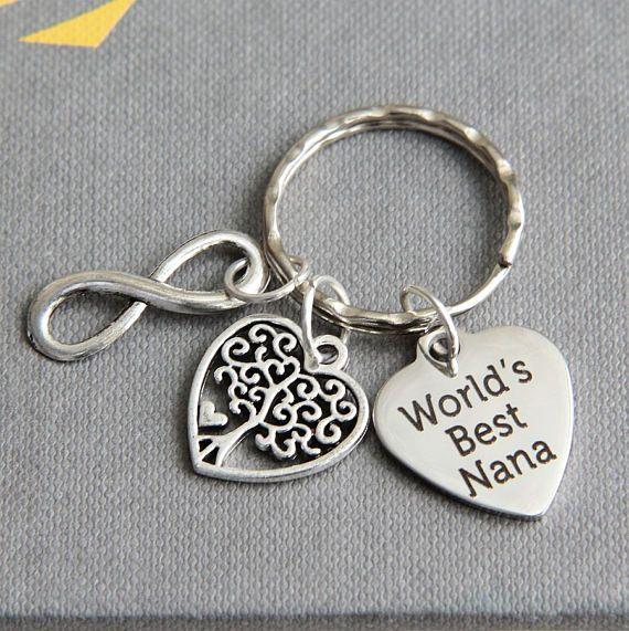 Nana Keychain Grandmother Keyring World's Best Nana
