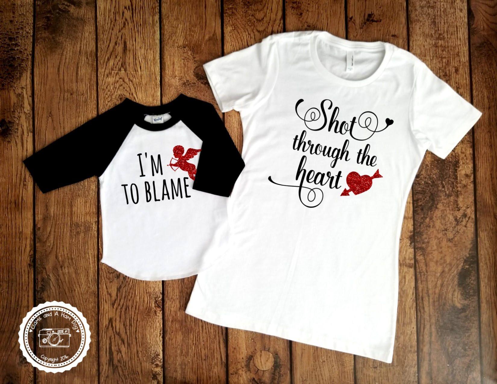 Valentine/'s Day Love Son Mum Gift Top Kids Mummy Is My Valentine T-Shirt