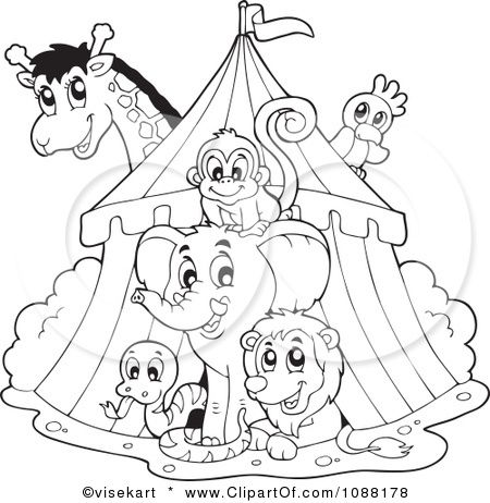 circus tent coloring page | School - Circus | Pinterest | Carnival ...
