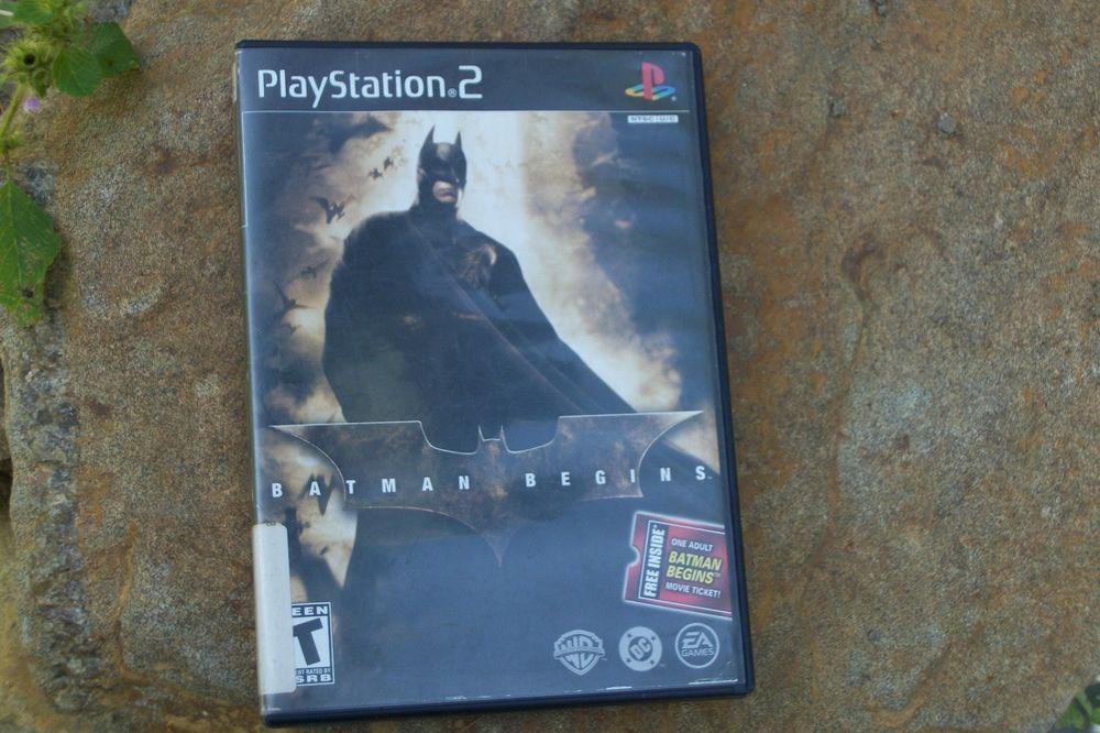 Ps2 Batman Begins Sony Playstation 2 2005 No Manual Batman Begins Sony Playstation Playstation