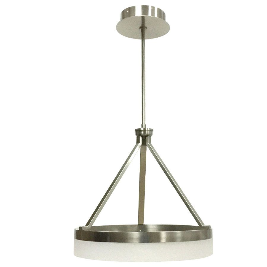 Lowes Pendant Lighting Cool Shop Style Selections Lynnpark 2376In Brushed Nickel Single Design Ideas