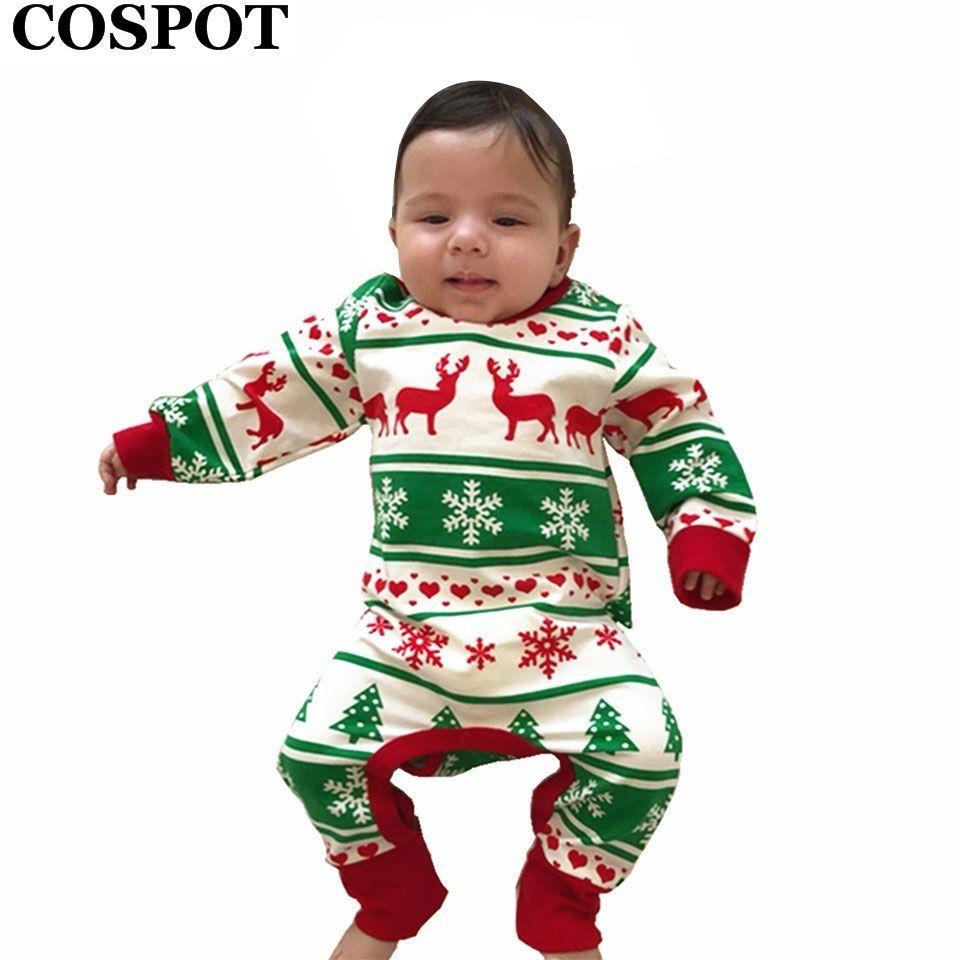 e0ca526d9 COSPOT Baby Girls Boys Christmas Romper Newborn Autumn Winter ...