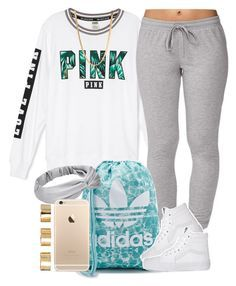 """""""Tropical PINK."""" by livelifefreelyy ❤ liked on Polyvore featuring Forever 21, adidas, Vans and ASOS"""