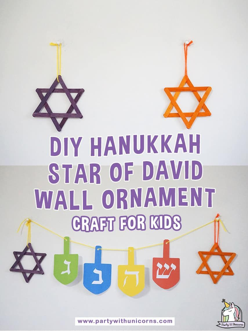Hanukkah Star Of David Craft For Kids Easy To Following