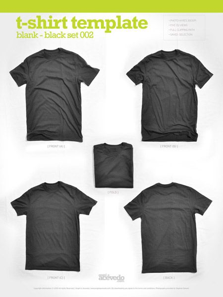 19 Free Blank T Shirt Template Designs | Template, Mockup and Logos
