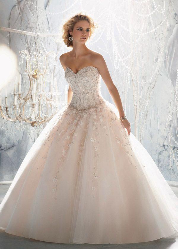 vestido+de+novia+encaje+sala+tul+escote+corazón+corte+princesa+
