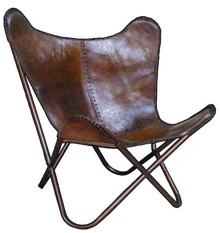 leather butterfly chair. Black Bedroom Furniture Sets. Home Design Ideas