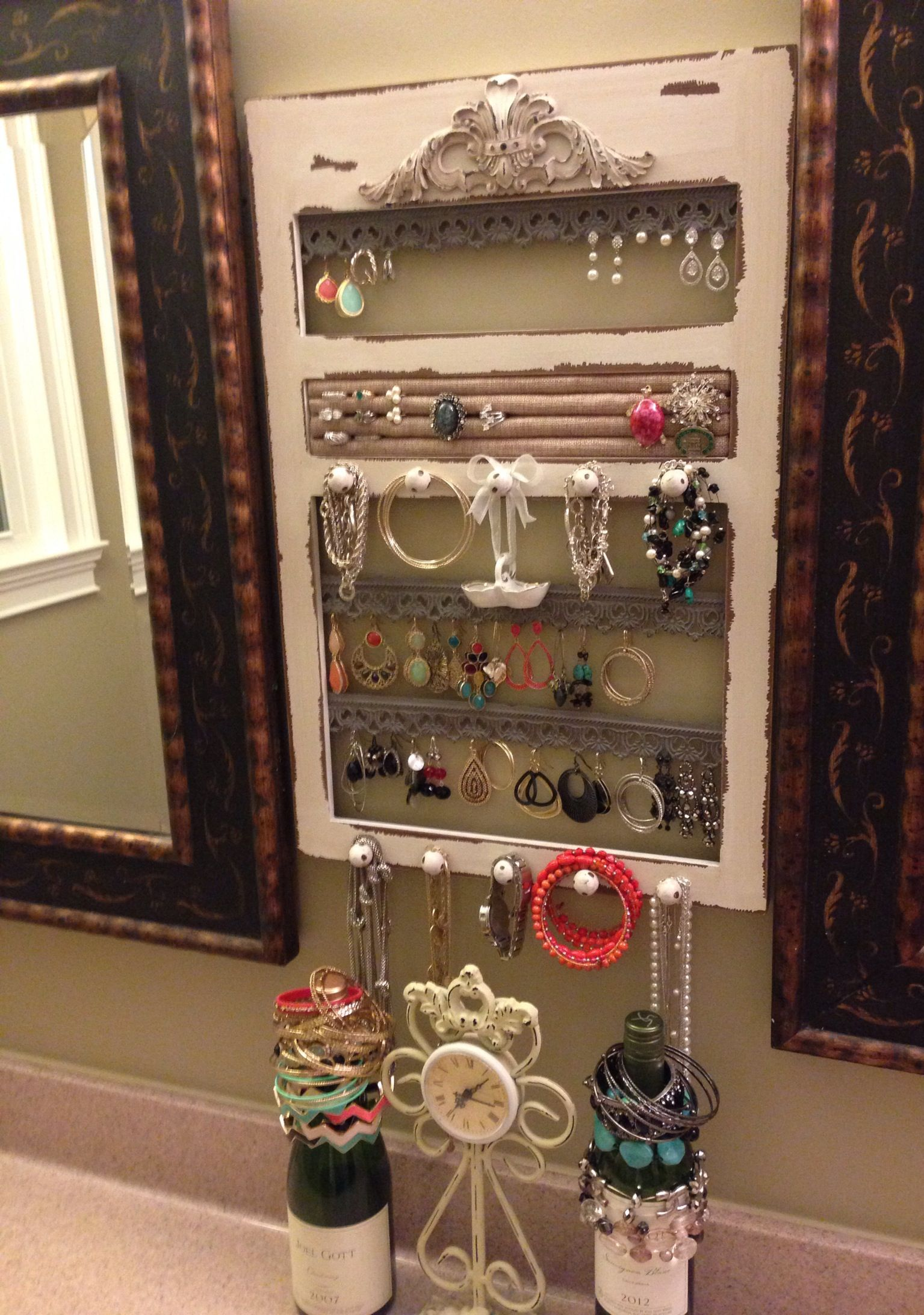 Jewelry frame--hobby lobby or DIY! | Home Sweet Home | Pinterest ...