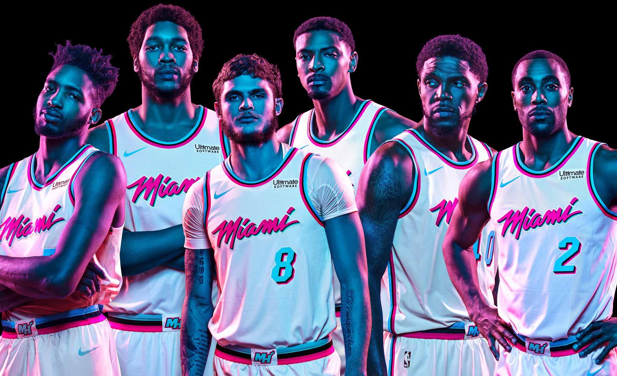 Miami HEAT Vice Uniform Miami heat, Lebron james miami