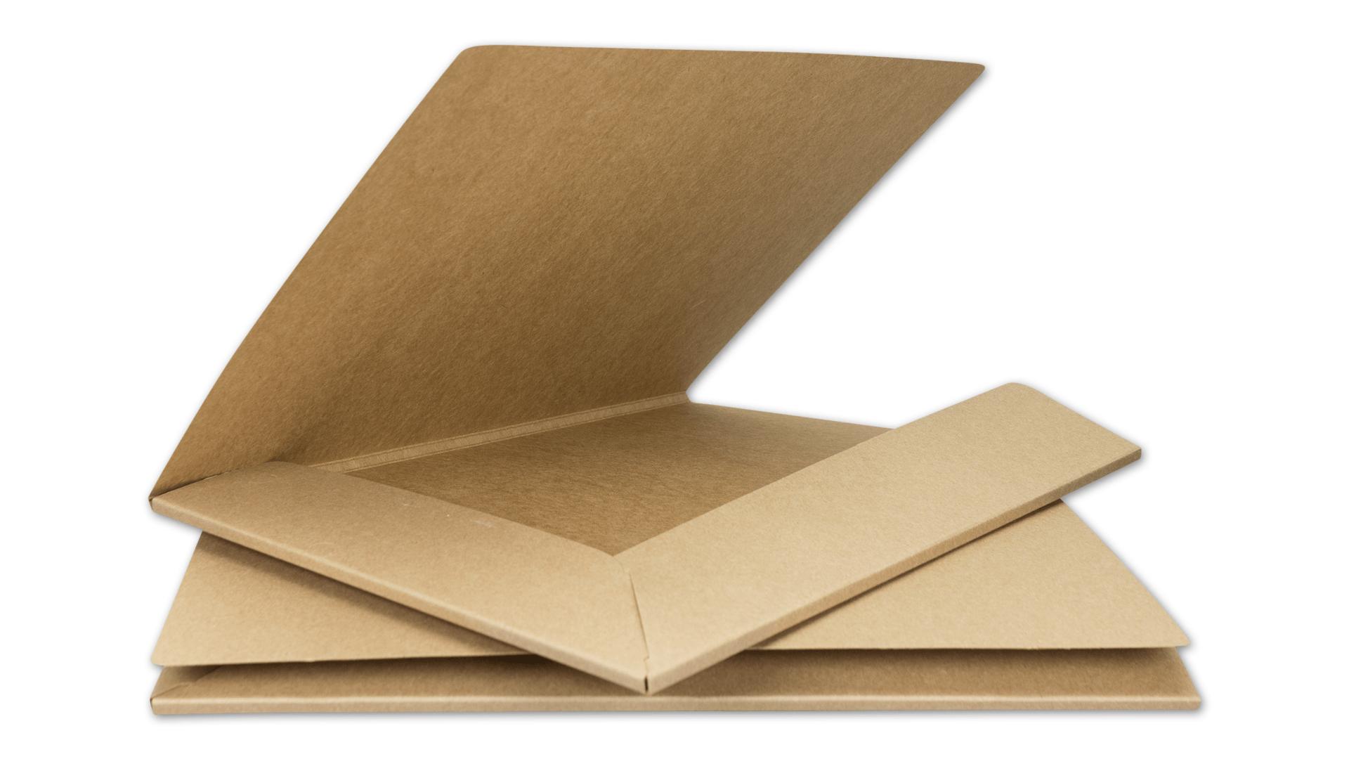 10 X Presentation Folder A4 Brown Cardboard 283 Gsm